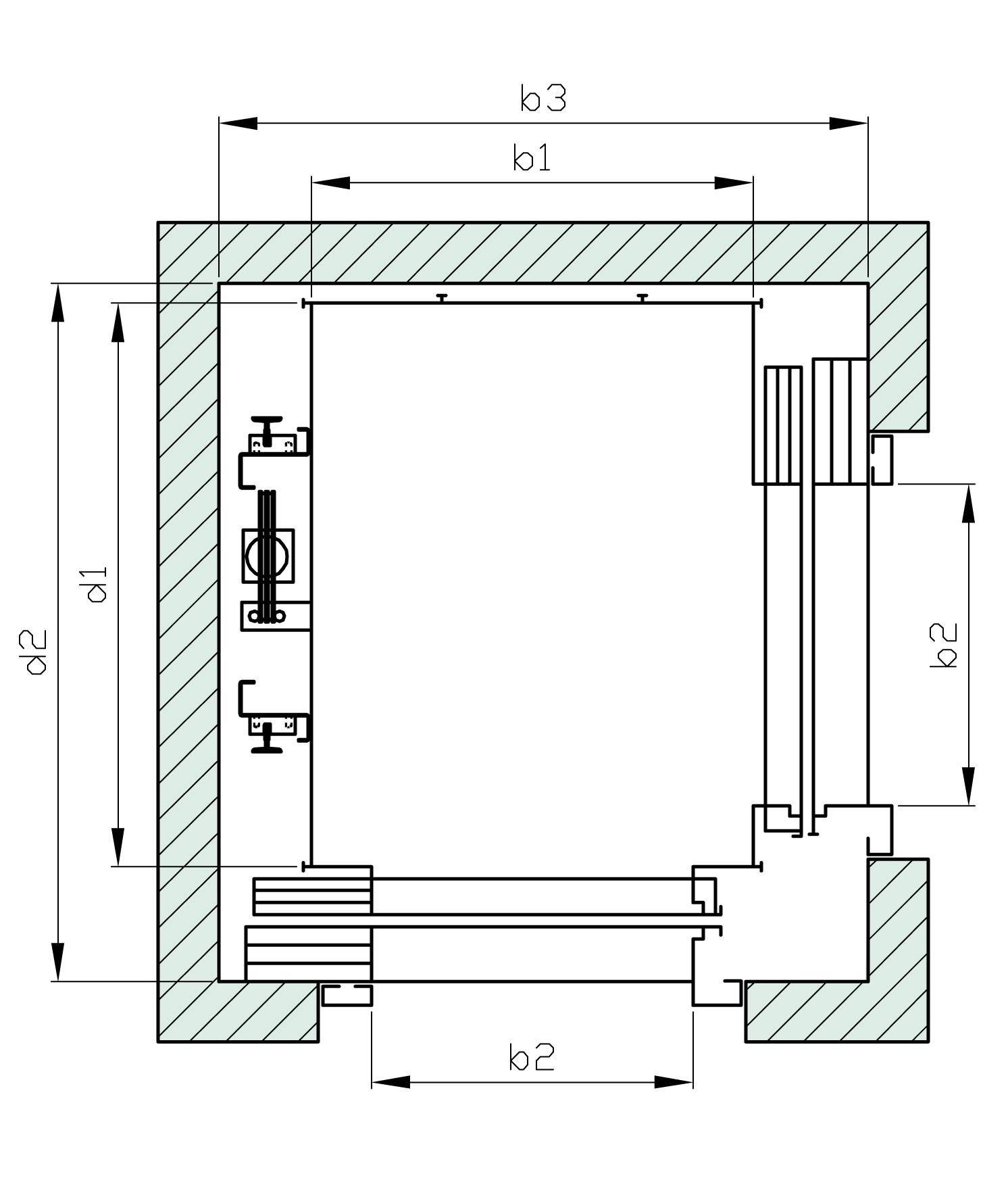 Hhl w line wittur ascensori elevatori cabine e for Dimensioni ascensore