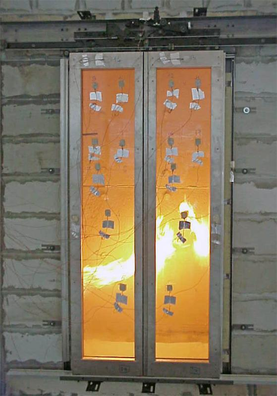 Fire Resistant Glass Framed Panel Door Wittur Safety In Motion