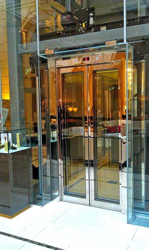 Glass Elevator Doors : Glass framed panels door wittur safety in motion