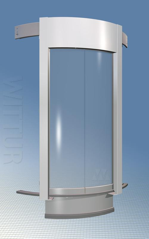 Luna 3600 landing door - glass panels and overdriven mechanism & Luna landing door - Wittur - Safety in motion