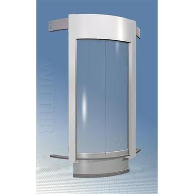 Luna 3600 landing door - glass panels and overdriven mechanism