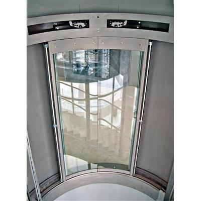 Luna full glass round door